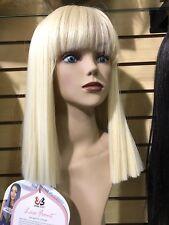 Platinum Blonde bob Short straight hair fluffy Fashion enchanting women wig