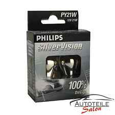 Philips PY21W SilverVision Unsichtbare silberfarbene Blinker Lampe 12496SVS2