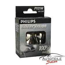 Philips py21w silvervision invisibles intermitentes de color plateado lámpara 12496svs2