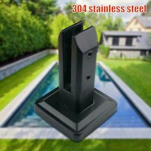 Black Stainless Steel Spigots Glass Clamp Frameless Glass Pool Fence Panels L5S8