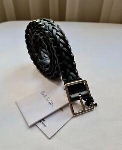 Paul Smith Belt Reversible Braided Leather Belt Size 34