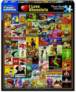 I Love Chocolate Puzzle 1000 Piece Jigsaw Made In USA #1555