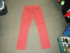 """Kushiro Classic Fit Jeans Waist 28"""" Leg 30"""" Red Faded Mens Jeans"""