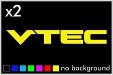 (2) Vtec Sticker Vinyl Decal Car Window Honda Acura Civic JDM Emblem Integra B16