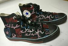 ALL STAR CONVERSE WOMENS GIRLS BOYS MULTI COLOUR GRAPHIC TRAINERS SHOES UK 6 39
