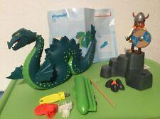 Playmobil Viking  Set #3155, Loch Ness Monster & Viking Warrior, complete