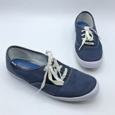 Keds Women Blue Canvas Casual Lace Up Sneaker Shoe Size 9.5M EUR 40.5 Pre Owned