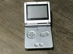 Nintendo Game Boy Advance SP AGS001 Silver Handheld Console System Great Cond