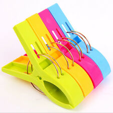 4X Plastic Spring Clips Laundry Clothes Clip Beach Towel Hangers Clip Pegs Pool
