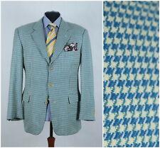 Mens HUGO BOSS UK 44R Vintage Check Houndstooth Wool Sport Coat Blazer Jacket