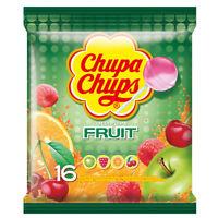Chupa Chups Lollipops Fruit  Apple, Orange, Cherry Original Lollies 192G