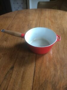 Copco Red Enamelled Iron Saucepan Without Lid