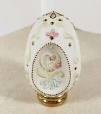 """Vintage Collectible Egg Crafted in Taiwan with stand 3.75"""" while in Stand"""