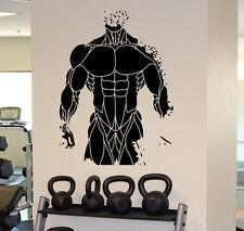 Wall Decal Fitness Gym Bodibilding Vinyl Sticker Sport Home Wall Art Decor 12fmf