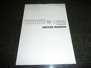 Original Luxman Service Manual Model M-1500 Power Amplifier