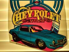 Rare Vintage Chevrolet Camaro Iron On T-shirt Transfer  NOS