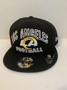 Los Angels Rams NFL Football 9Fifty Adjustable Snapback Strap Black Hat Cap