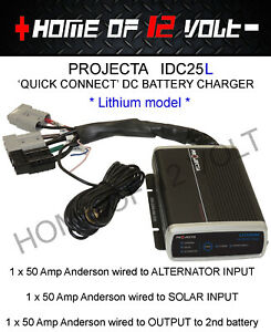 Projecta IDC25L Quick Connect DC Charger with Andersons fitted In vehicle charge