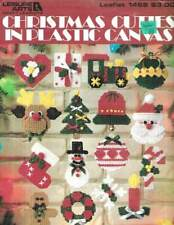 LOT/4 PLASTIC CANVAS BOOKLETS CHRISTMAS PROJECTS ORNAMENTS/MORE!!!