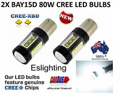 2 X BAY15D 1157 80W CREE CANBUS ERROR FREE CAR LED BRAKE STOP TAIL LIGHT BULBS