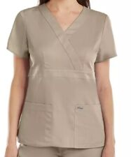 Grey's Anatomy By Barco 4153 Plus Women's 3-Pocket Mock Wrap Top Size 5Xl Nwt