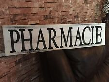 Large Pharmacie Farmhouse Rustic Kitchen Fixer Upper Style White Wood Sign