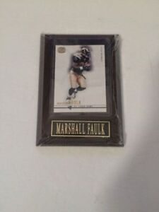MINT in Plaque MARSHALL Faulk 2001 Pacific Dynagon NF football trading card