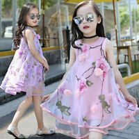 Summer Baby Girl Kid Flower Princess Dress Pageant Wedding Party Evening Dresses