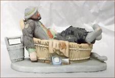 Emmett Kelly Miniature Collectible Saturday Night Clown Figurine in Box w Coa