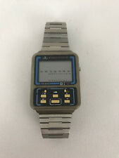 Vintage TR800 Translator Watch Stainless Steel Band Collectible Needs Battery