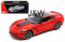 Maisto Chevrolet Corvette C7 Stingray Z51 2014 Red 38132 1/18 Exclusive Edition