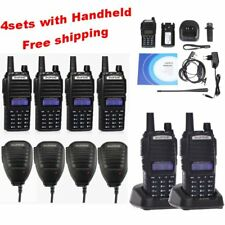 4 Sets New Baofeng UV82 VHF UHF Wireless Handheld Two-way Radio Walkie Talkie GB