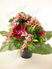 Artificial Cabbage Rose with Mixed Freesia Artificial Flowers