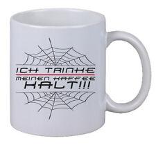 """Kaffee Tasse """"Ich Trinke Meinen Kaffee Kalt"""" Spinnweben Spinne Spider Geschenk"""