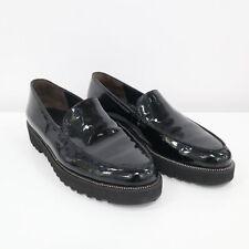 Paul Green Loafer Flats Womens US9.5 UK7 Black Patent Leather Platform Slip On
