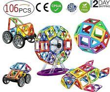 106Pc Mini Magnetic Building Blocks Construction For Kids Toys Educational Block