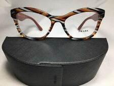 New PRADA VPR 29R VAN 1O1 Transparent Orange Gray Havana Eyeglasses w/Case 52mm