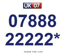 07888 22222* Numbers - Gold Memorable Platinum VIP Numbers, Yours For Life