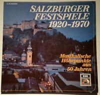 Die Salzburger Festspiele 1920 - 1970 Musikalische Höhepunkte EMI Stereo 2 LP´s