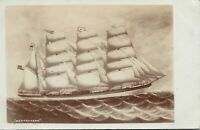 "1910 Real Photo Postcard RPPC - ""Matterhorn"" Schooner Ship M. Barnard"