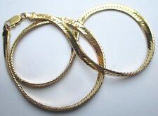 collier large belle chaîne bijou vintage maille plate serpent couleur or 5082