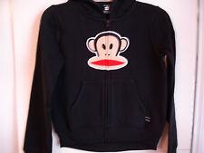 Girls PAUL FRANK Black Zip Front Fleece Hoodie Jacket Sz 6X NWT