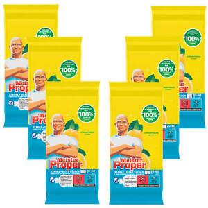 6x 60 Stück Mr. Proper Allzweck Reinigungstücher Citrusfrische Starke Tücher