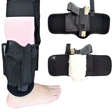Non-slip Ankle Holster with Sheepskin Padding for Concealed Carry Neoprene An...