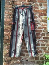 Mens hippie/boho/festival/grandad striped Symbol trousers L