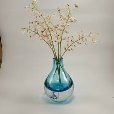 CASAMOTION Home Decor Accent Vase Hand Blown Art Solid Color Glass Bud Vase