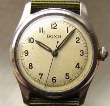 MEN'S WWII ERA DOXA collection MILITARY style WRISTWATCH steel case