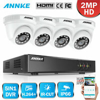 ANNKE 1080P 4CH CCTV 3MP DVR Home Outdoor Night Security Camera System IP66 Dome