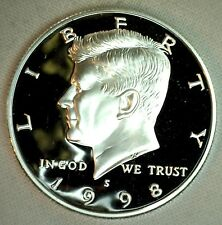 1998 S Proof SILVER Kennedy Half Dollar Coin 50 Cent JFK from US Mint Proof Set