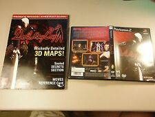 DEVIL MAY CRY 1 PLAYSTATION 2 PS2 EX+NRMT GAME & BRADY GUIDE COMBO NICE SHAPE!